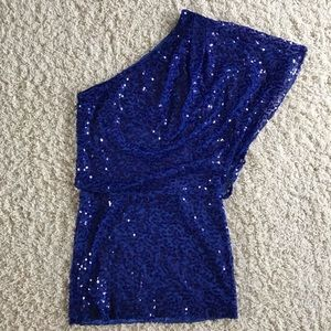 Jessica Simpson Blue Sequin Dress. Size 8